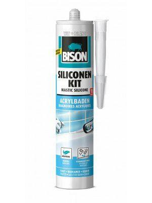 Bison Siliconenkit Acrylbaden Wit 300ml